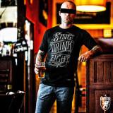 Tricou PGwear Sing Drink Fight ultras casuals hooligans - Tricou barbati, Marime: M, Culoare: Negru