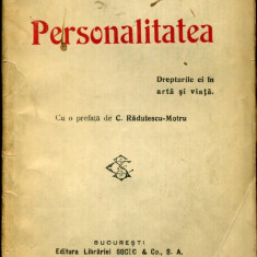 Carte veche - F. Aderca - Personalitatea - 406869