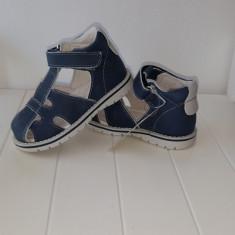 Sandale copii - Sandale piele baieti Andromeda (Culoare: alb/ bleumarin, Marime incaltaminte: 19)