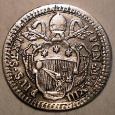 F.428 ITALIA VATICAN PAPA PIUS VI GROSSO GROS (1787) XIII ARGINT 1, 3g/19mm - Moneda Medievala, Europa
