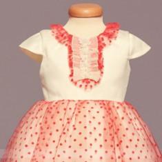 Rochita botez Pink Lights (Imbracaminte pentru varsta: 6 - 9 luni - 74 cm)