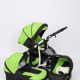 Carucior copii 3 in 1 - Carucior 3 in 1 Q9 Baby Merc Color 6 (Verde cu Negru) Baby-Merc