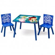 Masuta/scaun copii - Set masuta si 2 scaunele Disney Jake si Piratii din Tara de Nicaieri Delta Children