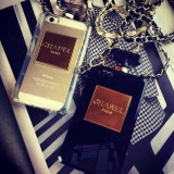 Husa sticluta parfum, transparenta / neagra, IPHONE 5 / 5S, Negru