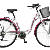 Bicicleta de oras DHS - Bicicleta oras Citadinne 2834 - model 2015 28'-Alb-450 mm - OLN-ONL8-21528340000|Alb|Cadru 450 mm