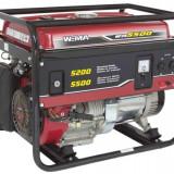 Generator curent - Weima Generator WM-5500, 5.2 kW, benzina, pornire manuala