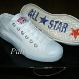 Tenesi Converse All Star alb total (talpa silicon)
