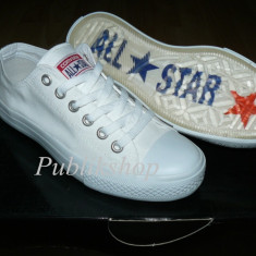 Tenesi Converse All Star alb total (talpa silicon) - Tenisi barbati Converse, Textil
