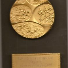 Medalie European Swimming Cup Group B Sofia 1975 - 84x129 mm - In caseta (MB-4), Europa
