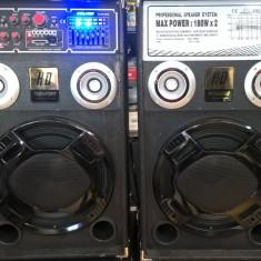 Boxe karaoke active cu mixer si mp3 player inclus 180 watt x 2 putere - Echipament karaoke