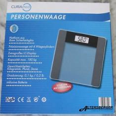 Cantar de baie electronic CuraMed, Afisaj LCD, max 180 Kg