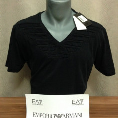 Tricou Emporio Armani colectie noua mai 2016 STOC LIMITAT! - Tricou barbati Emporio Armani, Marime: S, M, L, Culoare: Alb, Negru, Maneca scurta, Bumbac