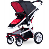 Carucior copii 3 in 1 - Caretero COMPASS 3 in 1 Red