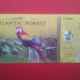 bancnota america, An: 2015 - ATLANTIC FOREST-2 AVES DOLLARS-2015-UNC-necirculata