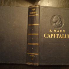 KARL MARX - CAPITALUL - VOL. I