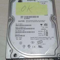 Hard-Disk / HDD laptop Seagate IDE 80GB 5400rpm st9808211A, 41-80 GB, Rotatii: 5400, 8 MB
