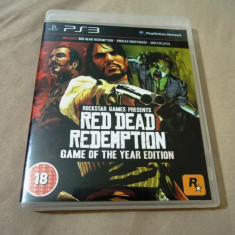 Joc Red Dead Redemption GOTY Edition, PS3, original, Alte sute de jocuri! - Jocuri PS3 Rockstar Games, Shooting, 18+, Single player