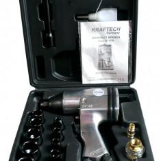 Cheie pistol pneumatic Service - Trusa Scule-KRAFTECH-Pistol Pneumatic-1/2-310 Nm+Tubulare(9-27mm)