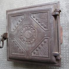 Usa de soba de teracota veche - Metal/Fonta