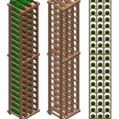 Raft din lemn pentru 60 de sticle - Raft/Etajera