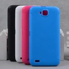 Husa telefon - Husa de protectie din silicon, cu rizuri laterale, compatibila Allview P5 Quad