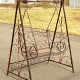 BALANSOAR DIN FIER FORJAT ANTIK BROWN - Mobila terasa gradina