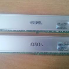 Kit Dual Chanel Memorie Ram Geil 2 GB (2X1) DDR2 800Mhz Desktop., Dual channel