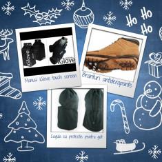 Pachet promo: Manusi touch screen iGlove + Branturi antiderapante + Cagula protectie gat + Produs cadou