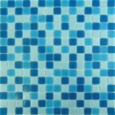 Masa gradina - MOZAIC STICLA DARK BLUE BLEND MIX 32.7x32.7
