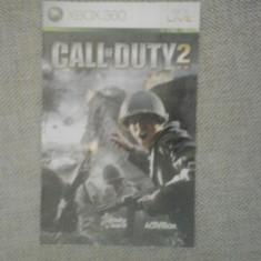 Manual - Call of Duty 2 - XBOX 360 ( GameLand ), Alte accesorii