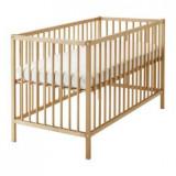 Patut lemn pentru bebelusi, 120x60cm - Patut Sniglar Ikea