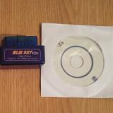 Interfata diagnoza auto - Mini ELM327 V2.1 OBD2 II Bluetooth - Compatibil Torque