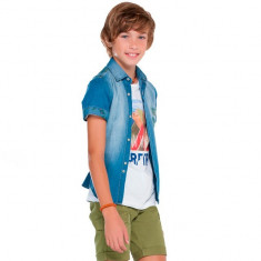 Camasa blugi baieti 6130 (Culoare: albastru, Imbracaminte pentru varsta: 10 ani - 140 cm)