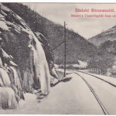 Carte Postala, Circulata, Fotografie - Romania, Maramures, c.p. circulata 1915: Peisaj montan, valea Tisza, sine c.f.