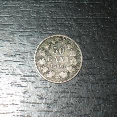 Monede Romania, An: 1900, Argint - Moneda argint 50 bani Romania 1900, regele Carol I