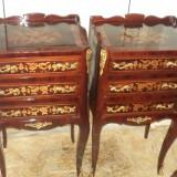 Superb set de 2 comodine franceze intarsiate foarte elegante - Mobilier