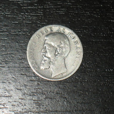 Monede Romania, An: 1894, Argint - Moneda argint 1 leu Romania 1894, regele Carol I