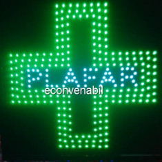 Iluminat exterior - Reclama Luminoasa cu LEDuri Verzi 48x48cm Plafar
