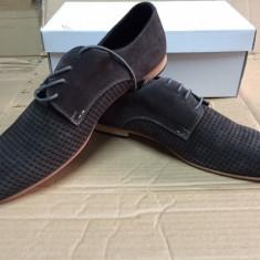 Pantofi barbati, Piele naturala - Pantofi PIELE NATURALA benvenuti marime 45 gri