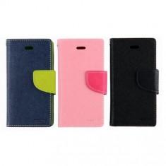 Husa Telefon Allview, Roz, Piele Ecologica, Cu clapeta, Toc - Husa Allview V1 Viper L Flip Case Inchidere Magnetica Roz