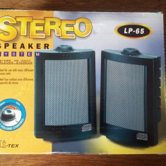 BOXE CALCULATOR HI-TEX LP 65 STEREO SPEAKER SYSTEM - Boxe PC