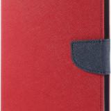 Husa tip carte Mercury Goospery Fancy Diary rosu + bleumarin pentru tableta Samsung Galaxy Tab S 8.4 (SM-T700), Tab S 8.4 LTE (SM-T705) - Husa Tableta