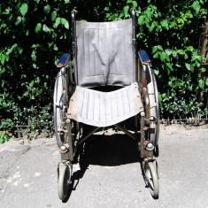 Scaun cu rotile - carucior handicap pliabil - cel mai mic pret din Bucuresti
