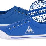 Adidasi dama Le Coq Sportif Deauville - tenisi originali - adidasi panza, Marime: 36, 38, Culoare: Albastru, Textil