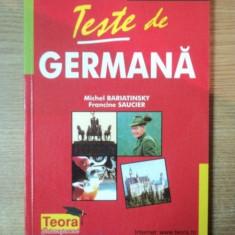 TESTE DE GERMANA de MICHEL BARIATINSKY, FRANCINE SAUCIER