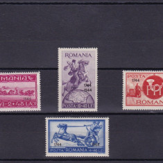 Timbre Romania, Nestampilat - ROMANIA 1944, LP 160, ASISTENTA PTT CU SUPRETIPAR, MNH, LOT 1 RO