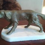 STATUETA BRONZ MASIV - BRAC GERMAN 5, 4 KG - Sculptura, Animale