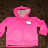 Bluza cu fermoar, bluzita sport Hello Kitty, 4-6 ani. COMANDA MINIMA 30 LEI!, Culoare: Roz, Fete
