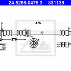 Furtun frana REINZ NISSAN SENTRA II hatchback 1.5 - ATE 24.5266-0475.3
