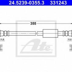 Furtun frana REINZ FIAT SCUDO caroserie 2.0 D Multijet - ATE 24.5239-0355.3